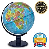 Waypoint Geographic Scout 12'' Globe Globe For Kids & Teachers - More than 4, 000 name Places - Great Color & Unique Construction - Up-To-Date World Globe - with Stand
