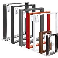 HOLZBRINK Tafelpoot van gesloten profilen 60x20 mm, tafelvoet 30x43 cm, Grijs antraciet, 1 stuk, HLT-01-E-AA-7016