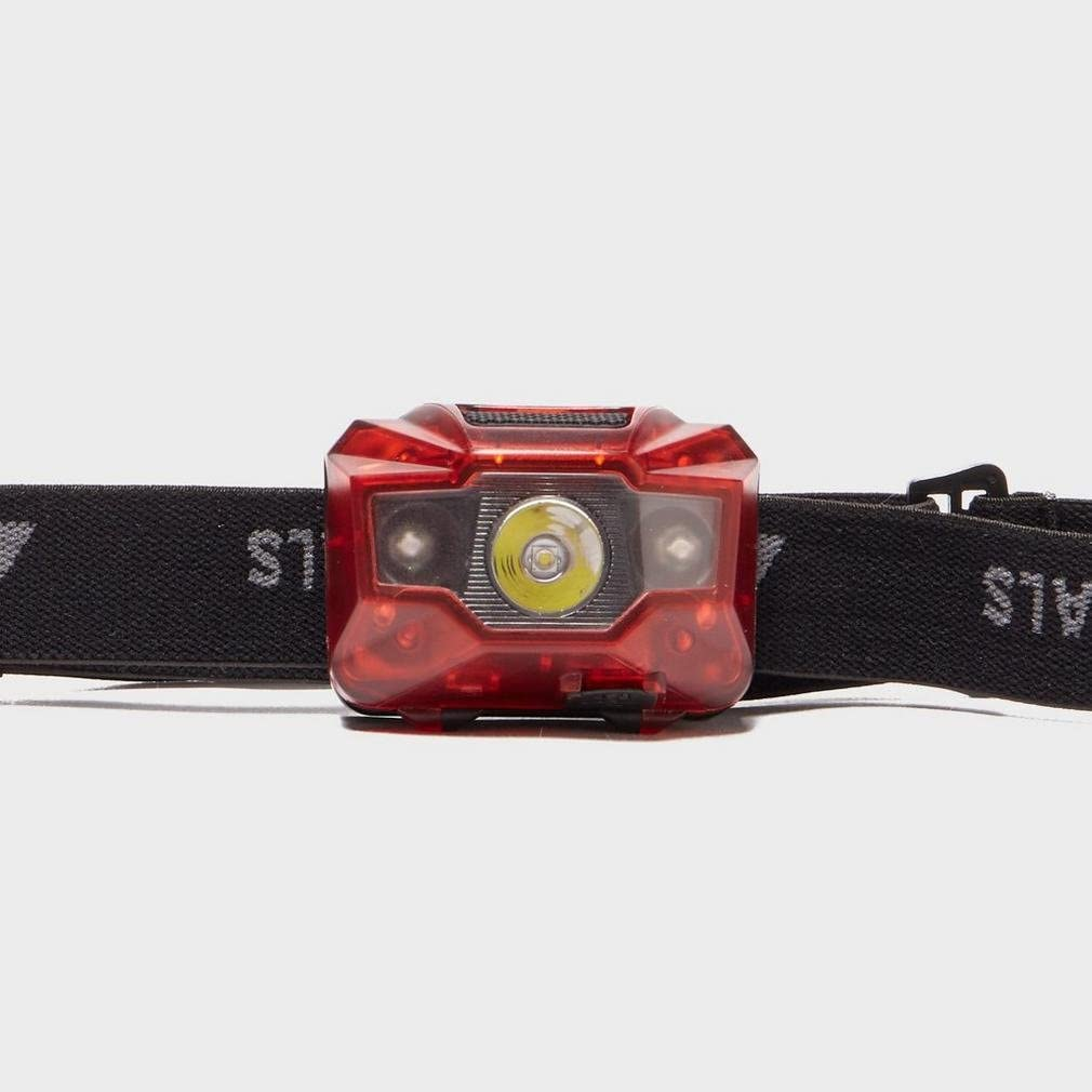 TECHNICALS Red 3W 2 LED Rechargeable Head Torch