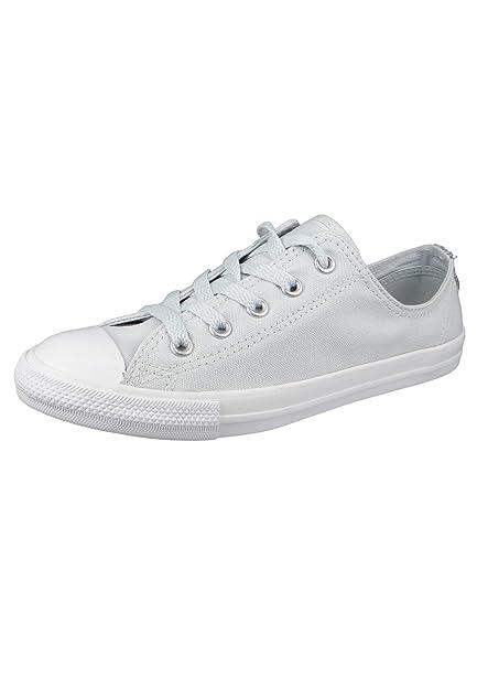 Converse Chucks 562476C Weiss Chuck Taylor All Star Dainty OX Satin Pure Platinum Silver White