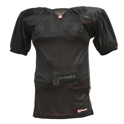 Barnett FJ-2 Camiseta de fútbol Americano Partido, Color Negro Color, Negro