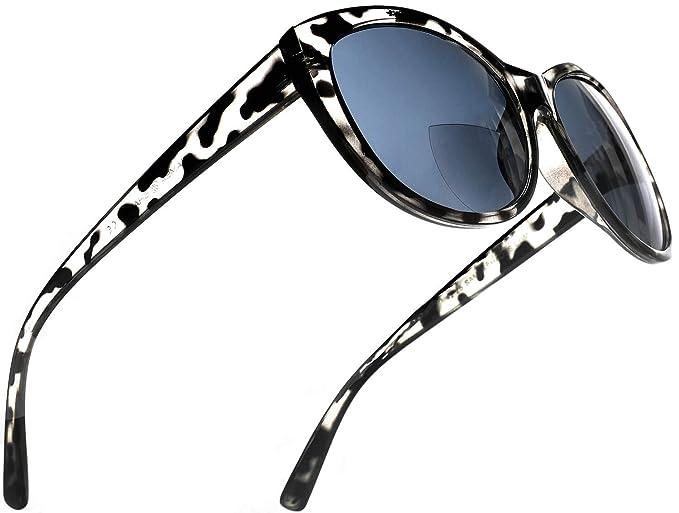 Amazon.com: Gafas de sol de lectura bifocales para mujer ...