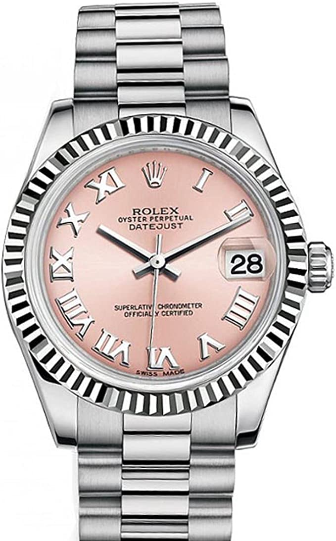Amazon.com Rolex Datejust 31mm Pink Roman Dial White Gold