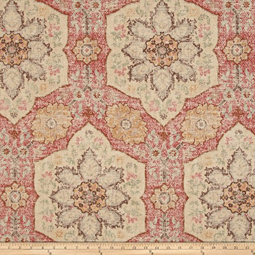 P Kaufmann Toscana Tile Crimson Fabric By The Yard