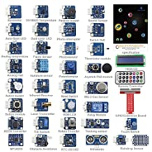 SunFounder 37 Modules Sensor Kit V2.0 for Raspberry Pi 3, 2 and RPi 1 Model B+, 40-Pin GPIO Extension Board Jump wires