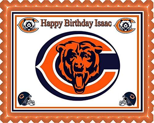 Chicago Bears - Edible Cake Topper - 7.5