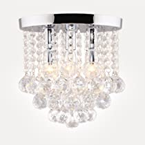 Surpars house crystal chandelier 3 lights 11 w 10 h silver surpars house crystal chandelier3 lights11 w aloadofball Choice Image