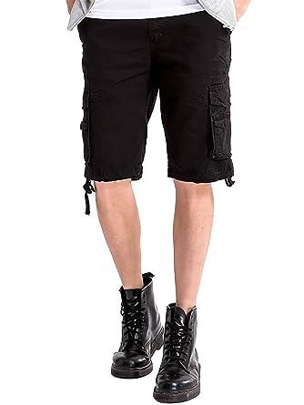 Amazon.com: INFLATION Men's Cargo Shorts Bermuda Shorts Drawstring ...