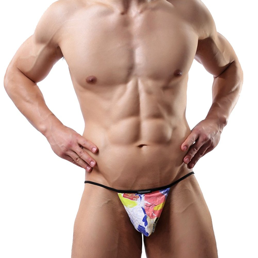 NANKUZ Men's String Gay Pride Curved Penis Bondage G String Doodle Flower  Sleeve, L: Amazon.co.uk: Health & Personal Care