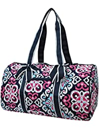 Damask Themed Prints NGIL Quilted Gym, Travel, Dance, Cheer, Duffle Bag
