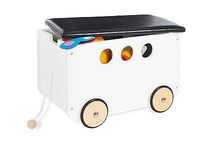 Pinolino 213490 juguete caja de plástico con ruedas (Jim, color blanco