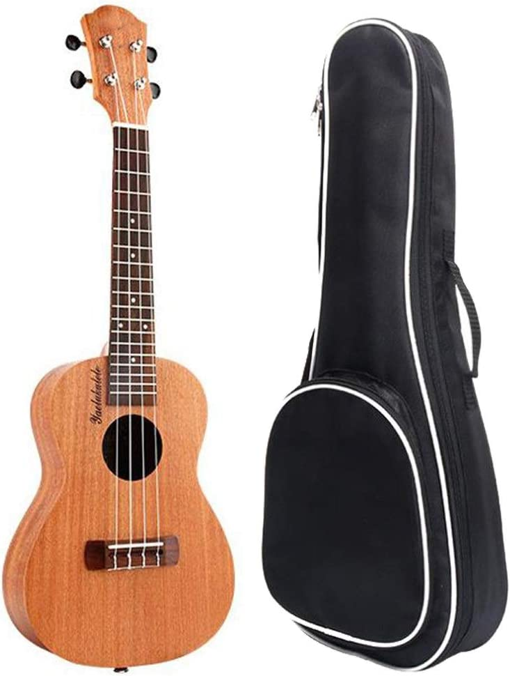 Zoueroih-MU Ukelele Sapele Wood Ukulele Soprano Tradicional Uke Hawaii Kids Pequeña Guitarra con Bolso Gigante for Niños Estudiantes Principiantes Instrumentos Musicales Regalos