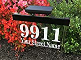 sunnyLEDs Custom Solar Address Sign - Bright Solar Lighted House Address Sign, Helps Emergency Vehicles and Guests Find Your Home (White)