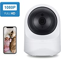 Home Security Camera, SecuPlug Baby Monitor,1080P HD Wireless WiFi Camera for Pet/Nanny, Free Motion Alerts, 2 Way Audio, Night Vision, Works with Alexa Echo Show, with TF Card Slot and Cloud Storage