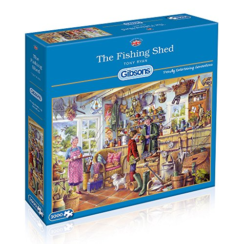 Gibsons The Fishing Shed Jigsaw 1000 Pieces Puzzle