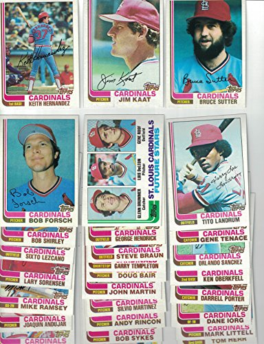 St Louis Cardinals/ Complete 1982 Topps Baseball Team Set with 28 Cards! 1982 World Series Champs!! ()