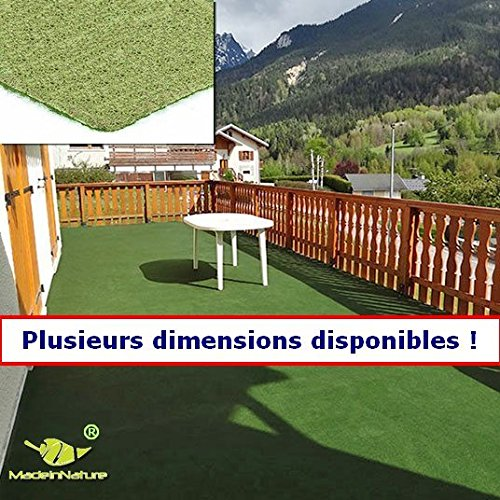 MadeInNature® Outdoor carpet or indoor Without pads grass carpet artificial kind – for garden, terrace, balcony, garage…