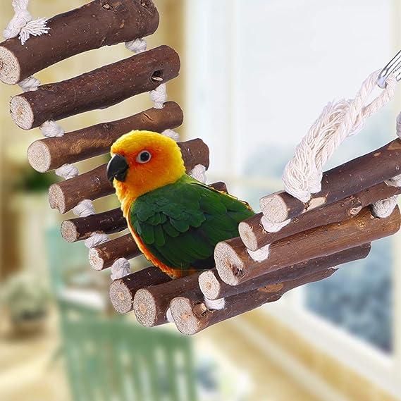 ueetek grassottelle escalera de cuerda pájaro Juguete Puente flexible Swing escalera para loros animales Trainning: Amazon.es: Productos para mascotas