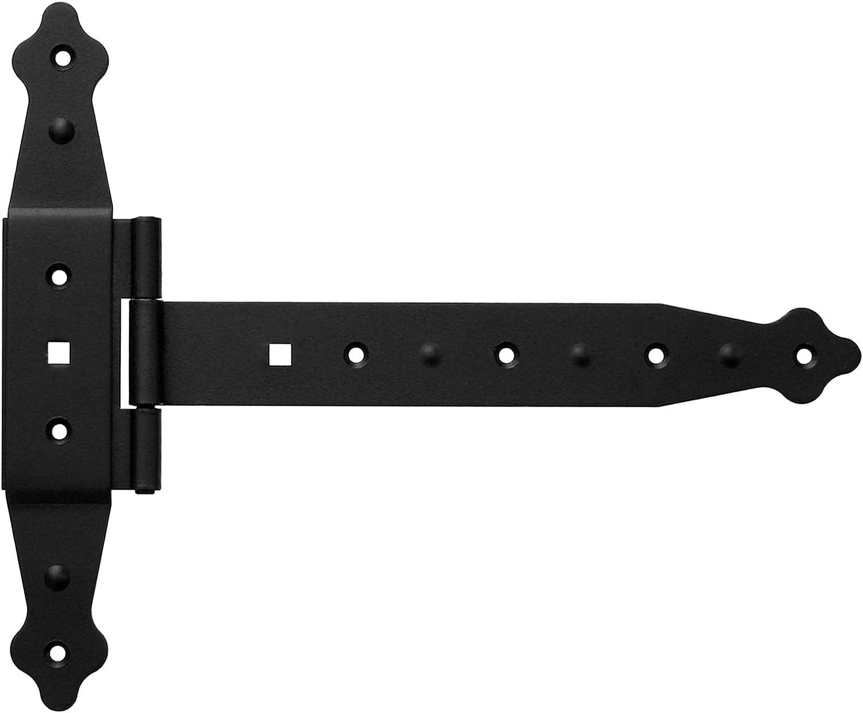 Kreuzgehänge T-Scharniere T-Bänder 237 mm Platte 235 mm Halbschwere Schwarz