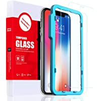 SMARTDEVIL 2 Pack Screen Protector Foils for Apple iphone Xs X/iphone 11 pro Protective Tempered Glass Film for 5.8 Inch Screen with Installation Tool, High Definition 9H Hardness Anti-Scratch