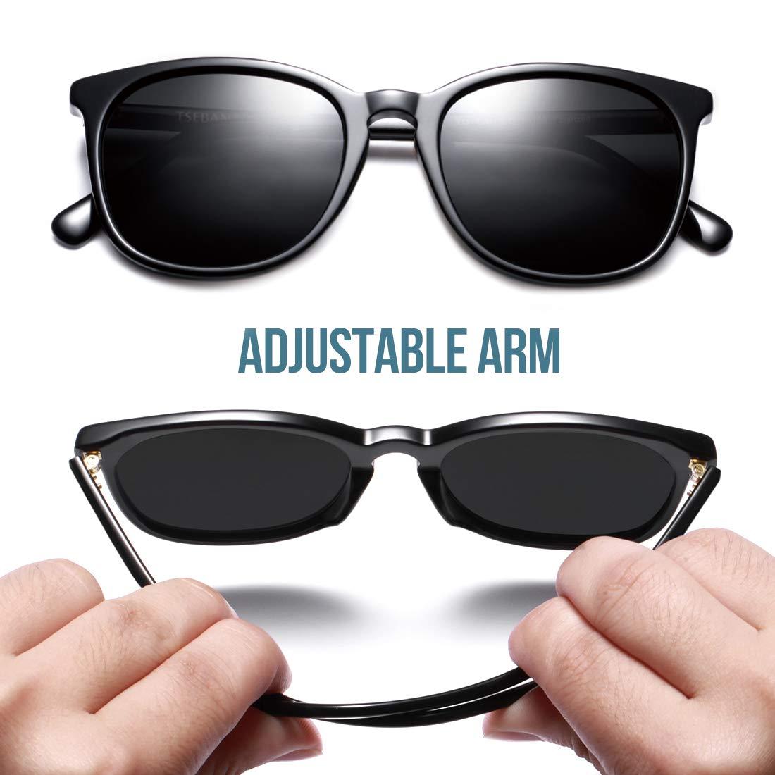 TSEBAN Retro Polarizzati Occhiali da Sole da Donna UV400 Protezione Super Light Gamba di Titanio