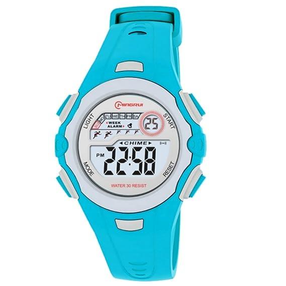 Montre Concept-Reloj digital de mujer/infantiles, correa de plástico, redondo, color turquesa y Gris-marca Mingrui-MR8550, color turquesa: Amazon.es: ...