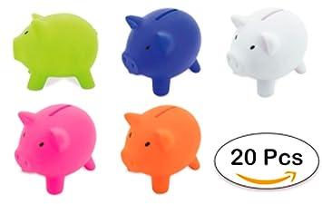 DISOK Lote de 20 Huchas Infantiles Piggy - Huchas Cerditos ...