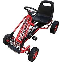 vidaXL Go-Kart de Pedales con Silla Ajustable Niños
