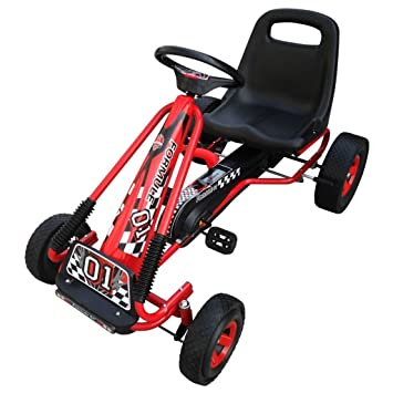 vidaXL Go-Kart de Pedales con Silla Ajustable Niños Coche de Paseo de Juguete: Amazon.es: Juguetes y juegos