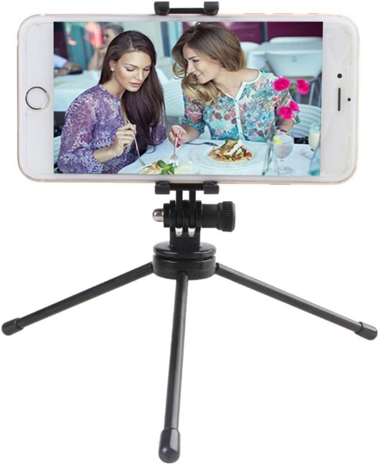 Almencla Tripod Locking Clip Mount Holder Monopod /& Folding Phone Bracket for Cameras