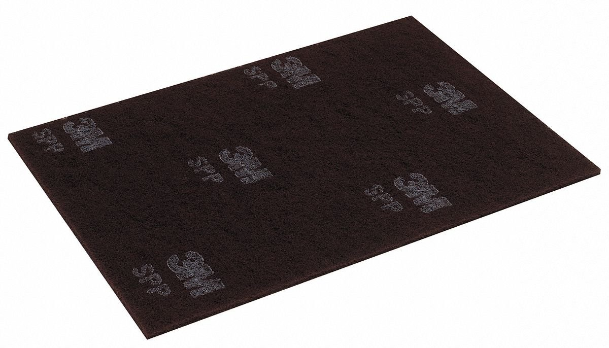 Stripping Pad, 12 In x 18 In, Maroon, PK10