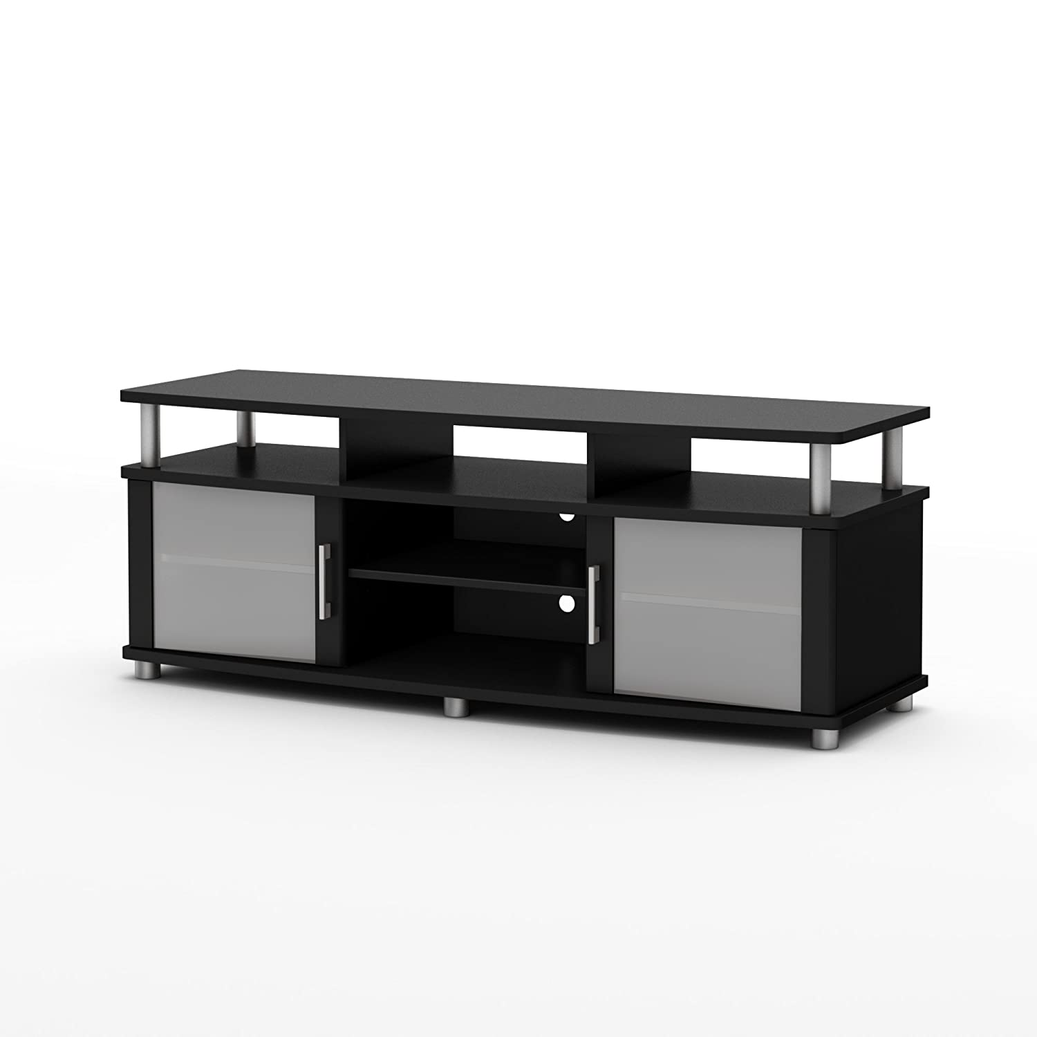 Amazon South Shore City Life TV Stand Pure Black Finish