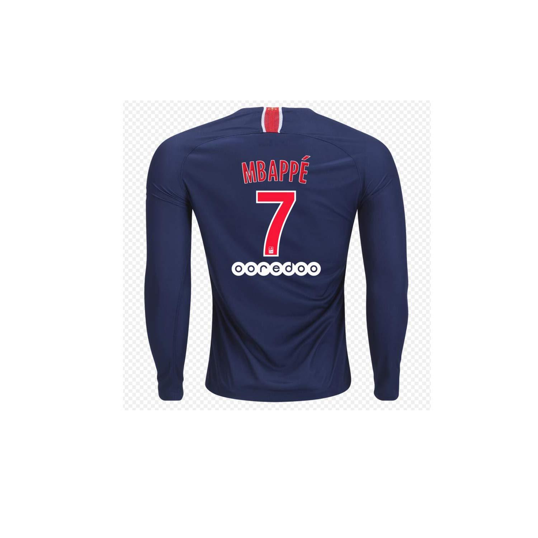 quality design 617c8 094eb Paris Saint-Germain Mbappe 7# PSG Home Soccer Jersey Long Sleeve 2018-2019  Season Blue