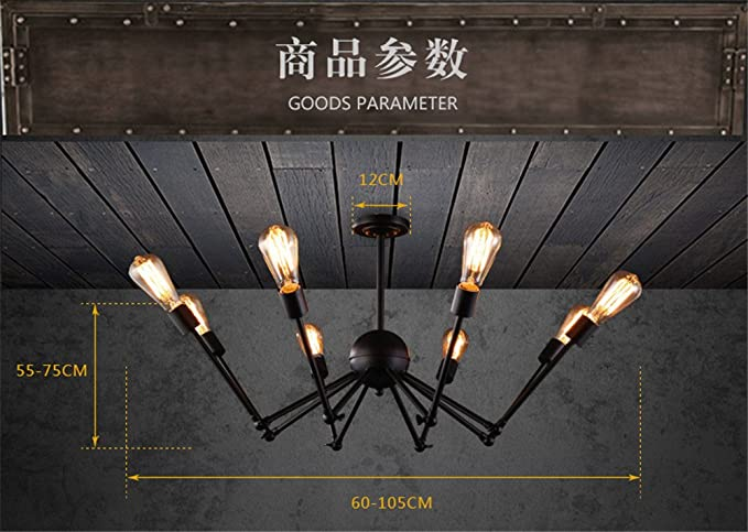 Shengye stile rustico plafoniera lampada a sospensione loft bar