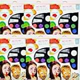 Face Paint Kit for Kids (Non-Toxic, Water Based) Professional Quality Children's Painting Kit with Brushes, Sponges, and Stencils by Weebumz - Includes Bonus Video and Ebook, 5 Pack