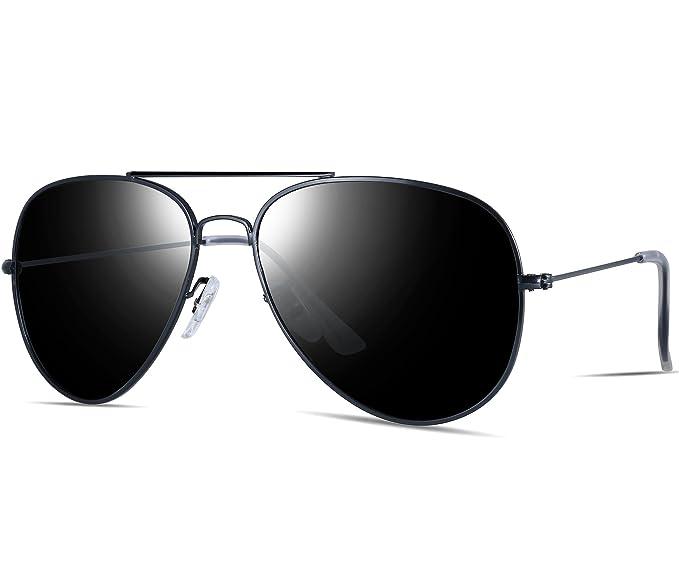 18899fd48d8 ATTCL Unisex Classic Aviator Driving Polarized Sunglasses For Men Women  1N3026black-gray