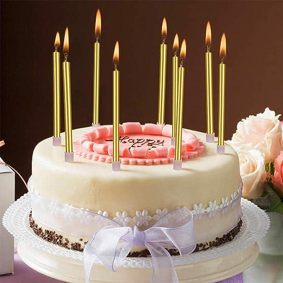 Amazon.com: Velas para tartas de cumpleaños de Bwealthest ...