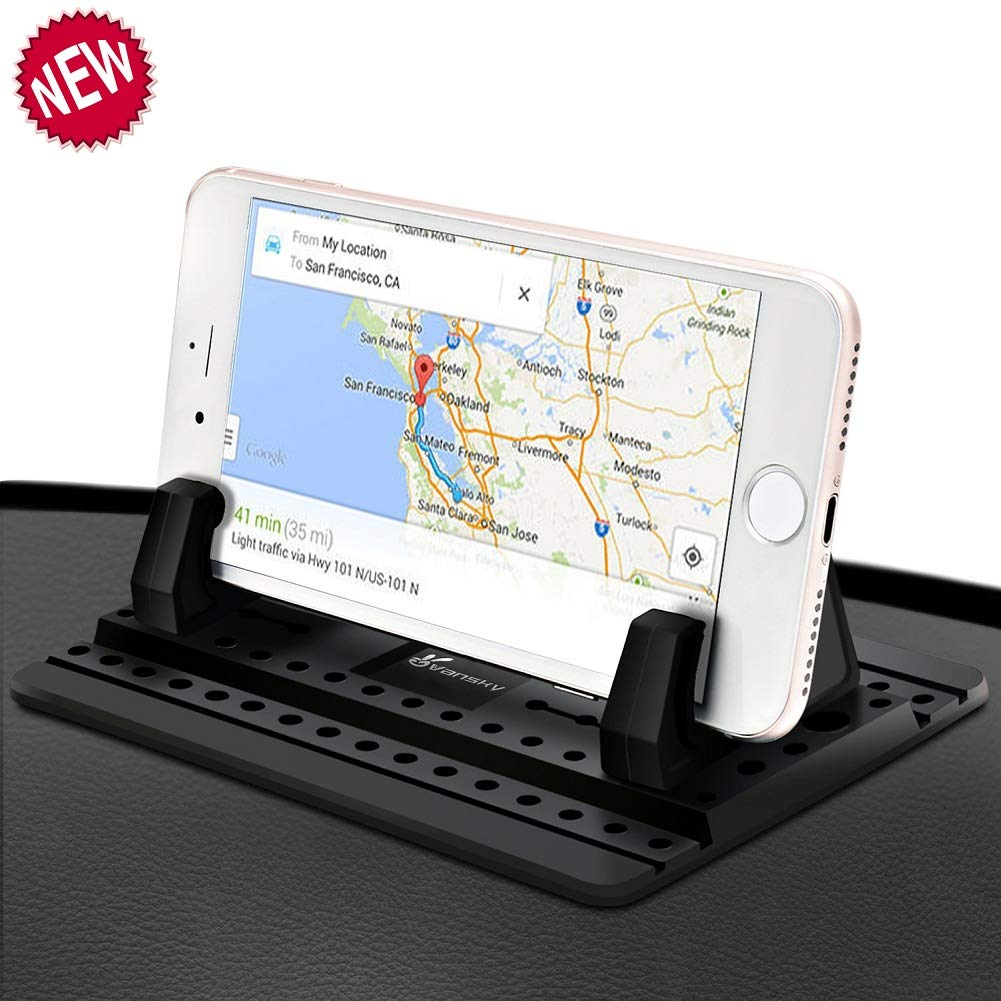 Car Phone Holder, Vansky Car Phone Mount Silicone Dashboard Car Pad Mat for iPhone X/8 Plus/7 Plus/6/6S Plus, Samsung Galaxy S8 Plus/Note 8/S7 3.5-7 inch Smartphone or GPS Devices by Vansky