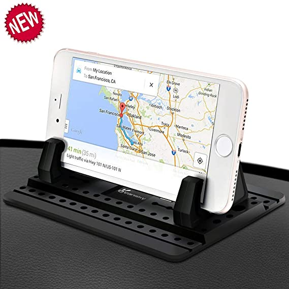 cdf79f173911ce Car Phone Holder, Vansky Car Phone Mount Silicone Dashboard Car Pad Mat for  iPhone X