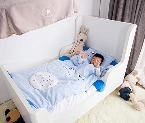 Saco De Dormir 100% Algodón Para Bebés 2-6 Años De Algodón Edredón Antideslizante Para Niños Edredón Desmontable Saco De Dormir Para Niños Manta Multifuncional Swaddle: Amazon.es: Bebé