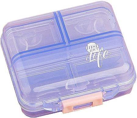 HUICI huicial - Estuche para Pastillas, portátil, 7 Compartimentos, plástico, Medicina, Vitamina, Caja organizadora para Bolso de Viaje Diario o Bolsillo: Amazon.es: Hogar