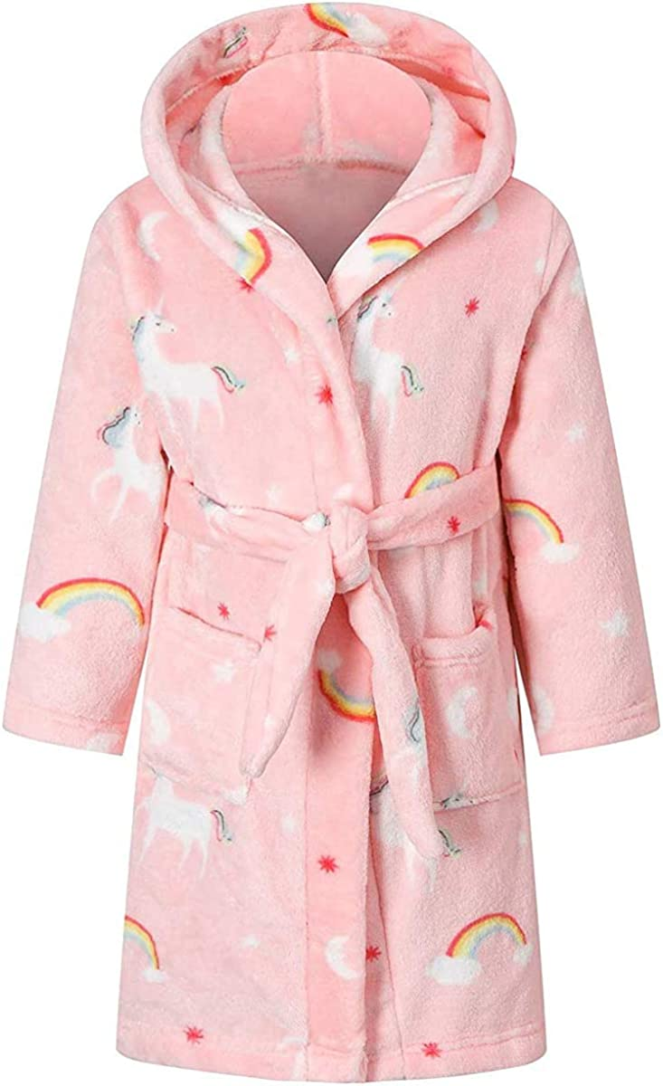 Betusline Kids & Adults Robe, Boys Girls Toddler Baby Flannel Soft Bathrobes, 18 Months - Women XL: Clothing