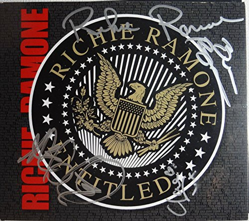 Signed Richie Ramone Autographed Entitled CD Full Band Ramones w/Pics -