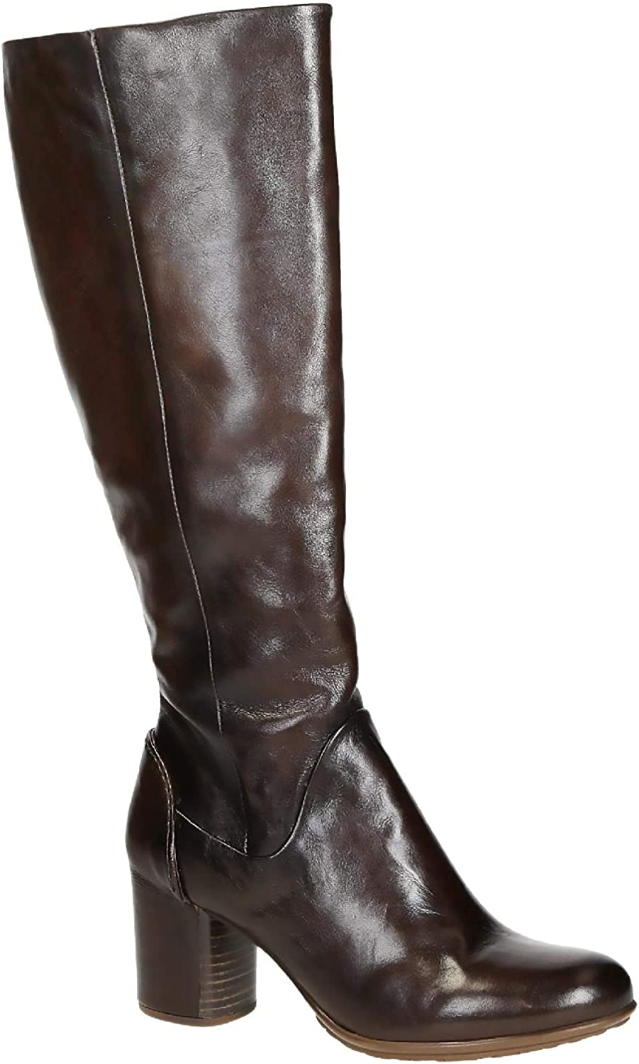 Calf Leather Knee High Boots Shoes