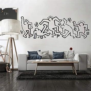 Copripiumino Keith Haring.Adesivo Murale Keith Haring Camera Dei Bambini Anime Nurserry