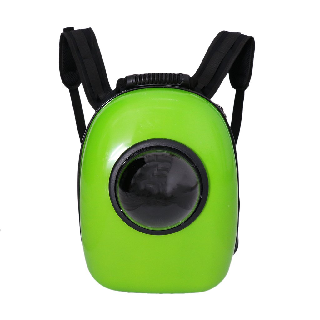 Green Sharplace Space Capsule Windons Backpack Transparent Breathable Cat Pet Outdoor Travel Carrier Bag Green