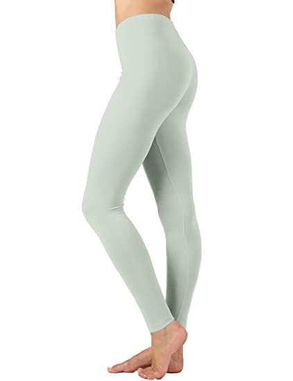 a42257e7fa Amazon.com: Meilleur Mode Leggings Premium Cotton Yoga Pants Grey MI  Medium: Clothing