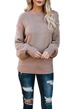 Simple-Fashion Otoño Invierno Mujeres Suéter Moda Slim Backless ...