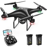 SNAPTAIN SP600 Drone avec Caméra 720P HD et Double Autonomie, Contrôle Gestuel, WiFi ,FPV avec 120° Grand Angle Réglable,Vol de Trajectoire, 3D VR, 360°Flips, Mode sans Tête, et Maintien de l'altitude
