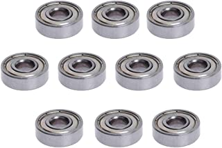 D DOLITY 10 Pieces 608ZZ Carbon Steel Deep Groove Flanged Ball Bearings 8x22x7mm for Reprap Prusa 3D Printer